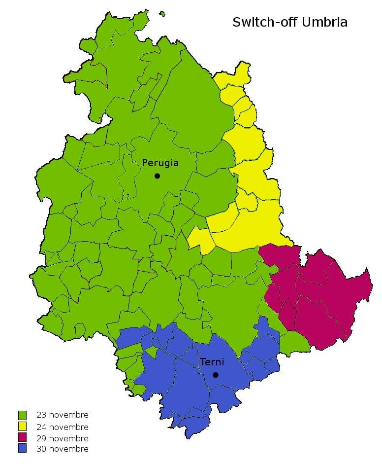 cartina dellumbria con tutti i comuni - photo#13