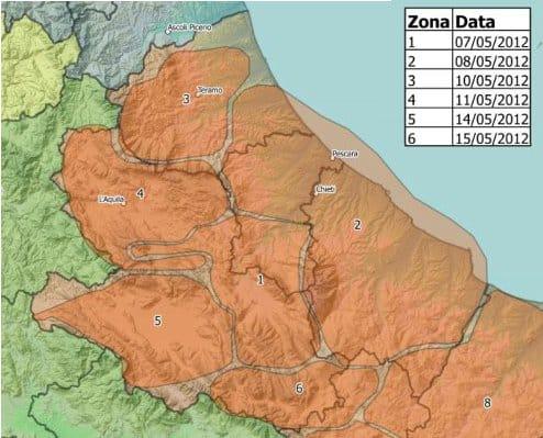 mappa fub switch-off digitale terrestre abruzzo