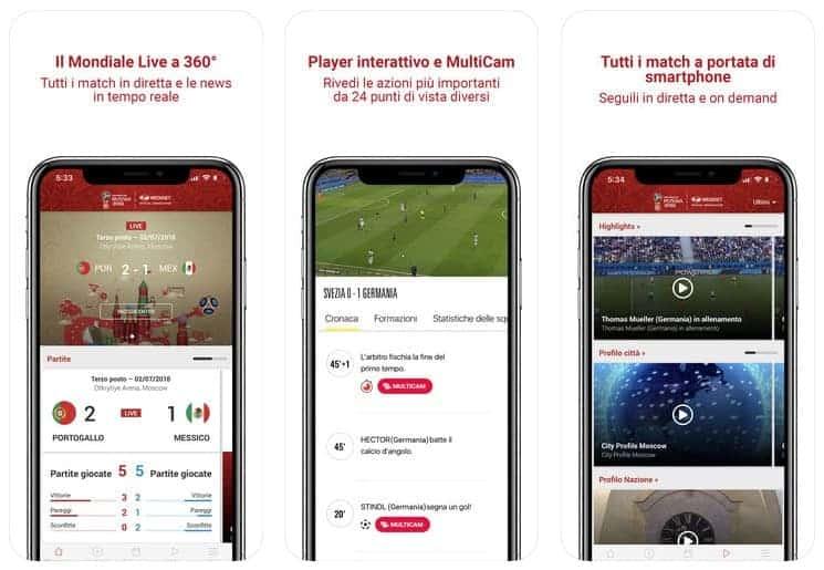 mondiali 2018 app mediaset