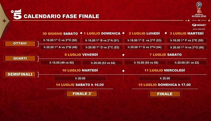 Calendario Qualificazioni Mondiali Italia.Calendario Mondiali 2018 Mediaset Palinsesto Delle Partite