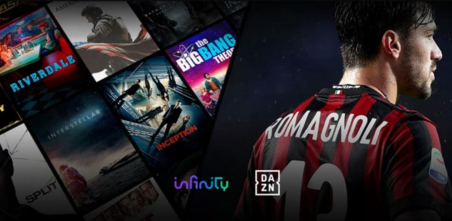 infinity tv dazn serie a streaming