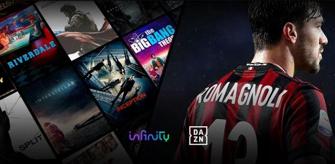 infinity tv dazn serie a streaming