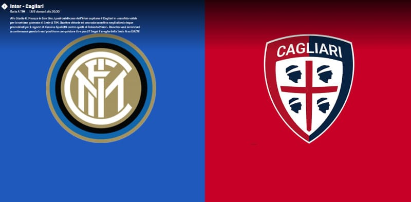 inter cagliari dove vederla in streaming e in tv