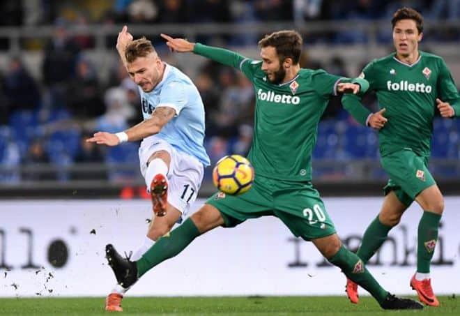 Immobile Pezzella Lazio Fiorentina dazn serie a