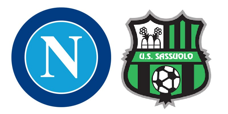 Napoli Sassuolo in streaming e in tv