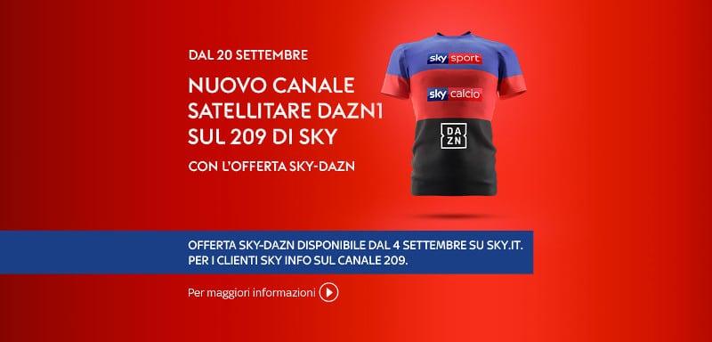 offerta sky dazn nuovo canale 209 dazn1